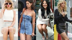 Spódniczki mini i superkrótkie sukienki - co gwiazdy noszą latem?