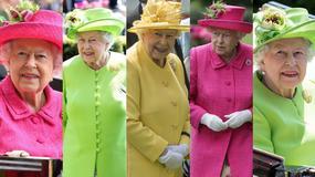 Kolorowa królowa Elżbieta na słynnych wyścigach konnych