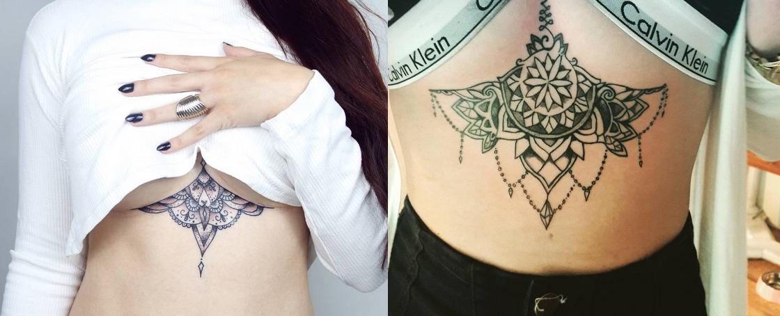 Tatuaże Pod Biustem To Najnowszy Hit