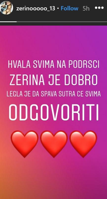Objava Zerine Hećo