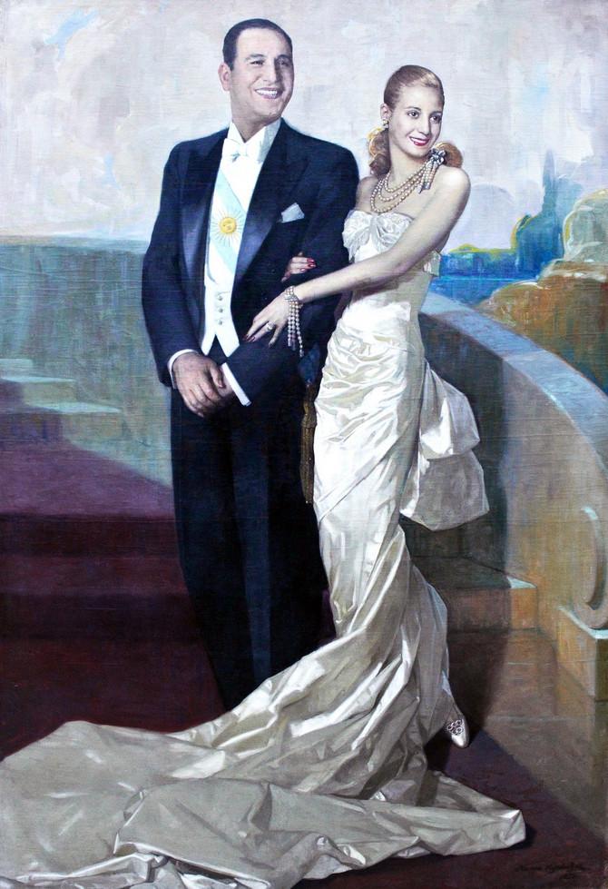 Zvanični portret predsednike Argentine i prve dame