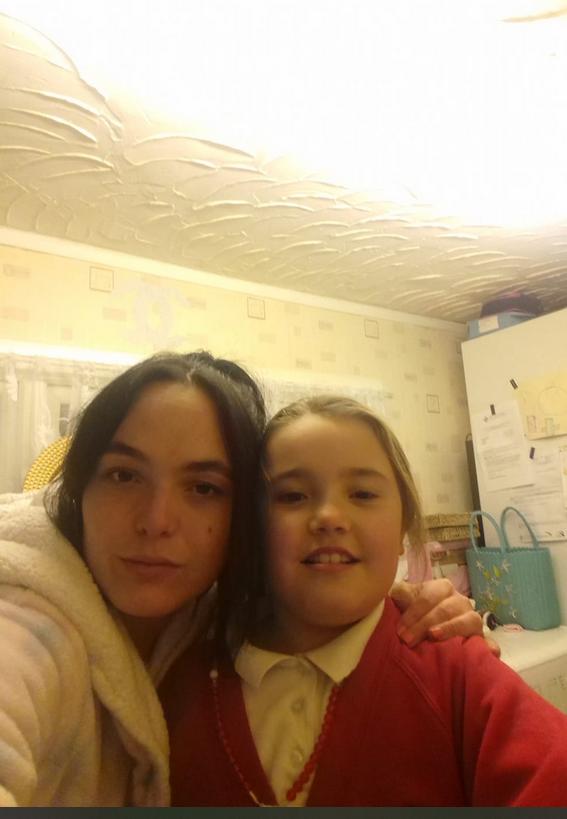 Kejti sa ćerkom