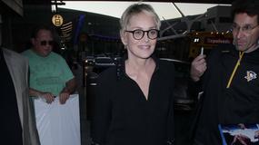Sharon Stone w krótkiej sukience na lotnisku. Ciężko było ją rozpoznać