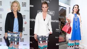 Dorota Soszyńska, Ewa Pacuła oraz Macademian Girl w takich samych spodniach