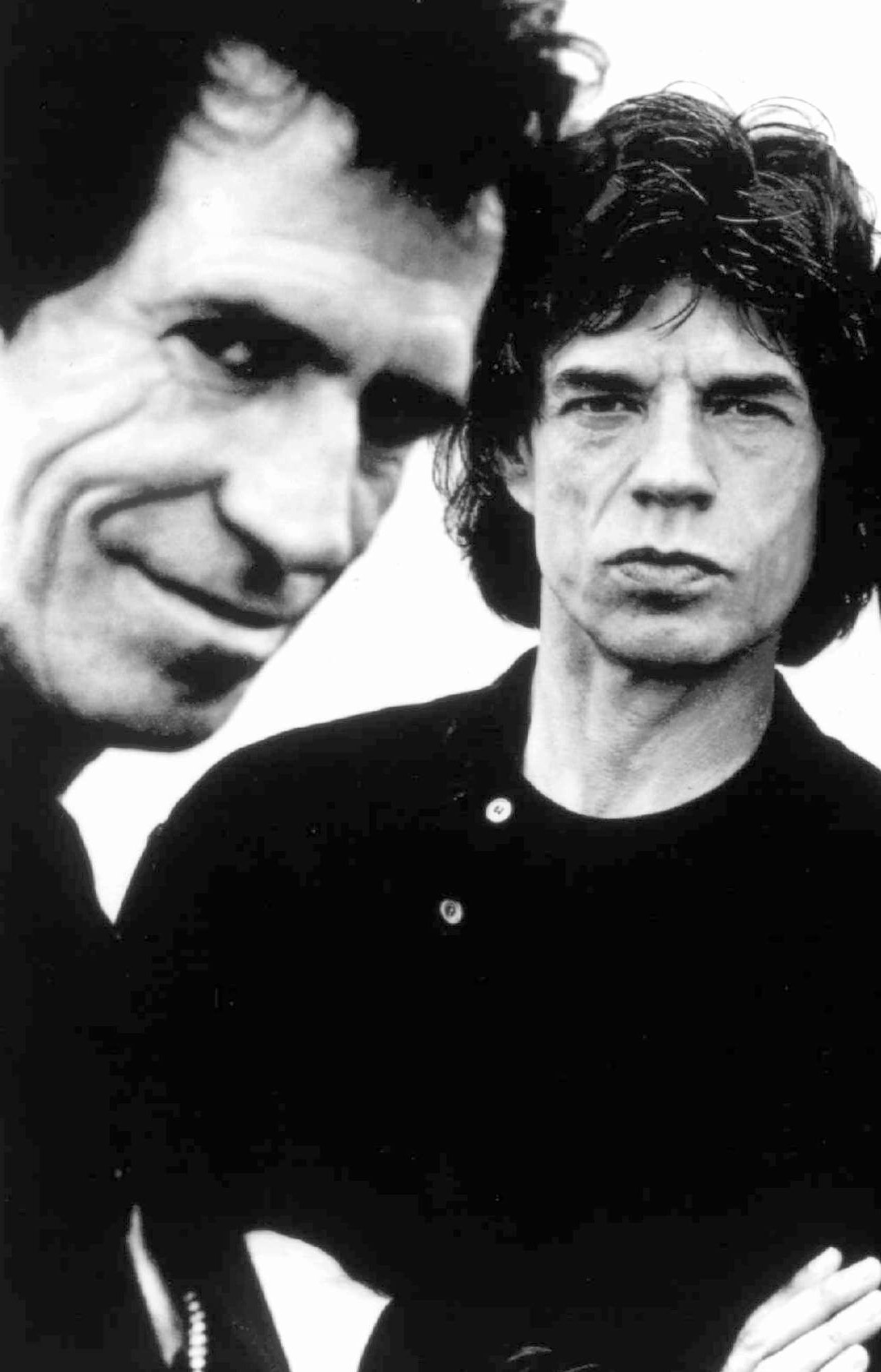 Mick Jagger i Keith Richards w 1995 roku