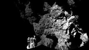 Sonda Philae wylądowała - tak wygląda kometa  67P Churyumov-Gerasimenko z bliska
