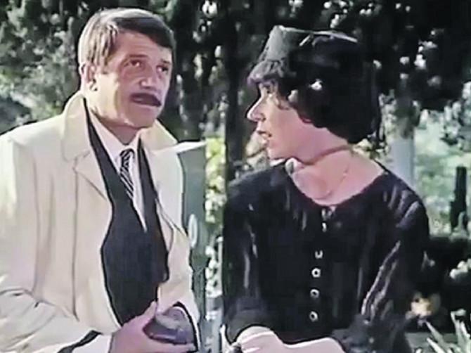 Bora sa Jelisavetom Sekom Sabljić u filmu