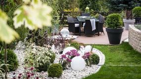 Kameralny ogród w Świbnie - przepięknie oświetlony. Zobaczcie fontannę!