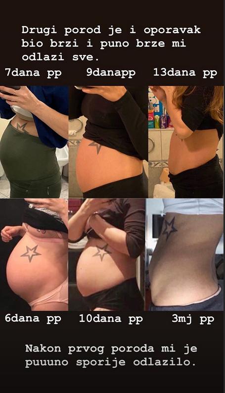 Evo i poređenja prve i druge trudnoće