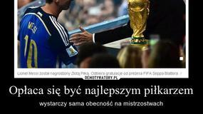 Lionel Messi nie zasłużył na Złotą Piłkę MŚ 2014? - Memy