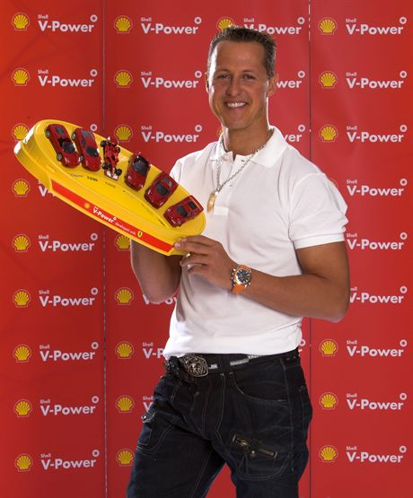 POZNAN, POLAND - APRIL 21:  Michael Schumacher at a Shell event on April 21, 2007 in Poznan, Poland.   (Photo by Getty Images for Shell)