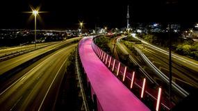 Różowa ścieżka rowerowa w Nowej Zelandii