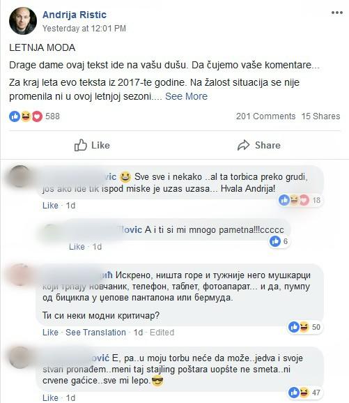 Andrijin post izazvao je buru na Fejsbuku