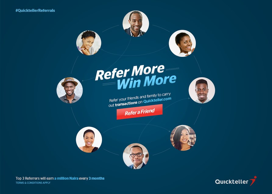 QuickTeller Refer a friend now! 3 million up for grabs