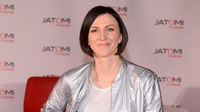 Monika Pyrek w błyszczącej stylizacji