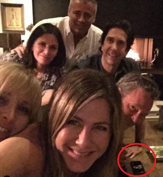 Detalj na fotografiji Dženifer Aniston