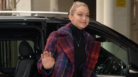 Gigi Hadid w kraciastym płaszczu. Zaliczyła wpadkę?