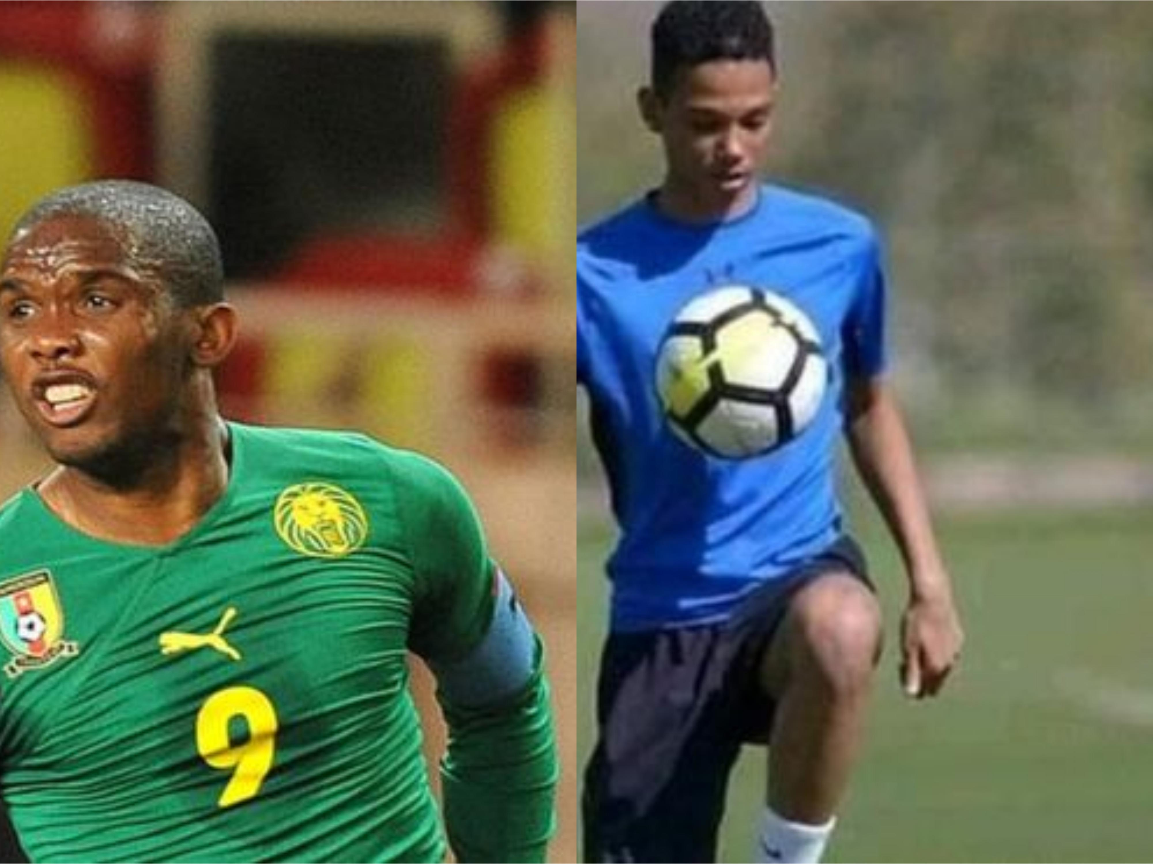 Image result for Eto'o's son gets call-up to Cameroon U-17 team
