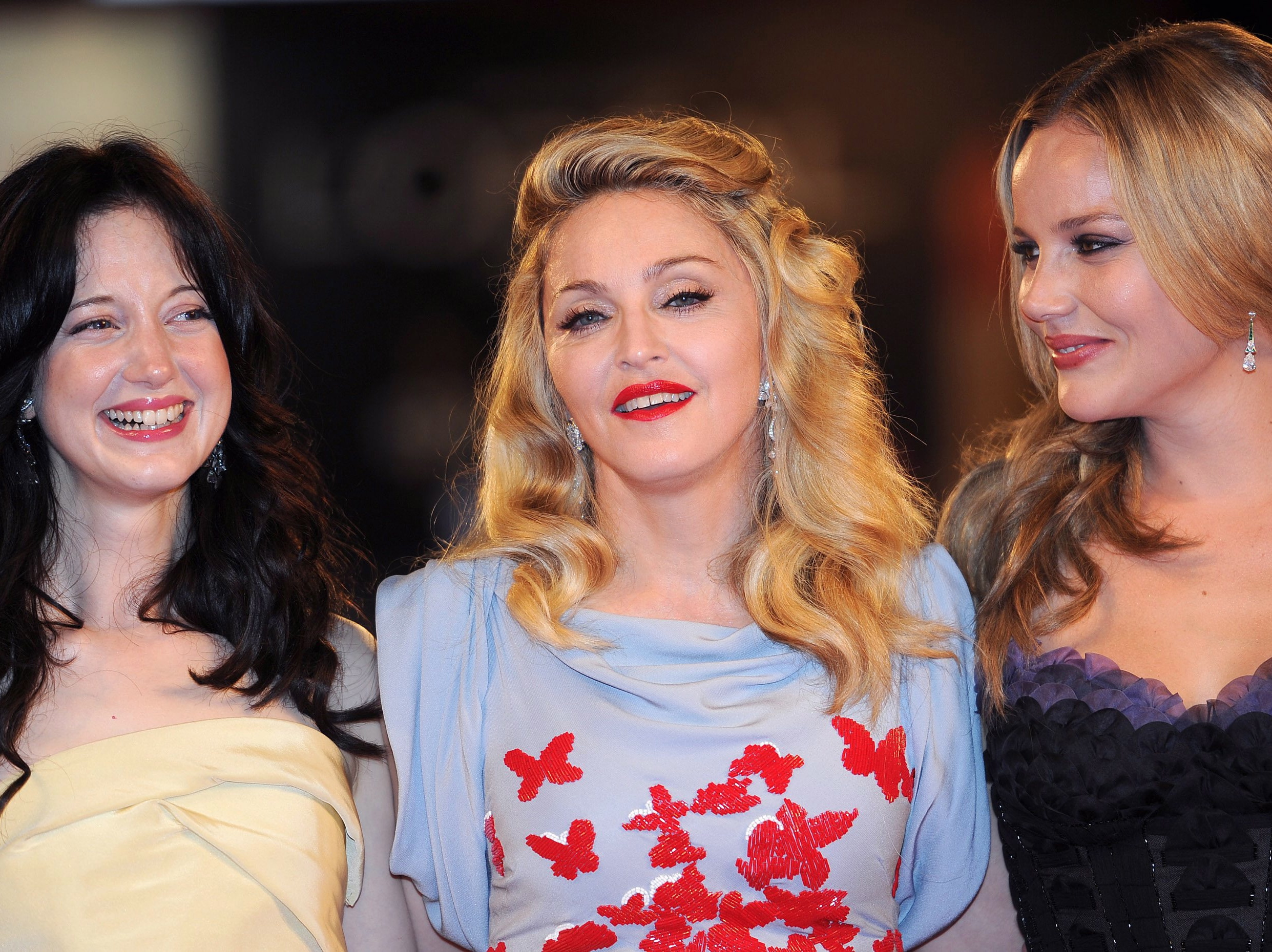 Madonna i jej aktorki: Andrea Riseborough i Abbie Cornish