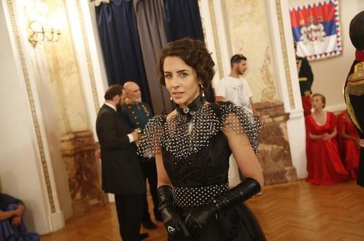 Ivana Dudić na setu serije