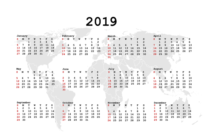 2019 as naptár Jó hír a karácsony kapcsán! Ezek a munkaszüneti napok, hosszú  2019 as naptár
