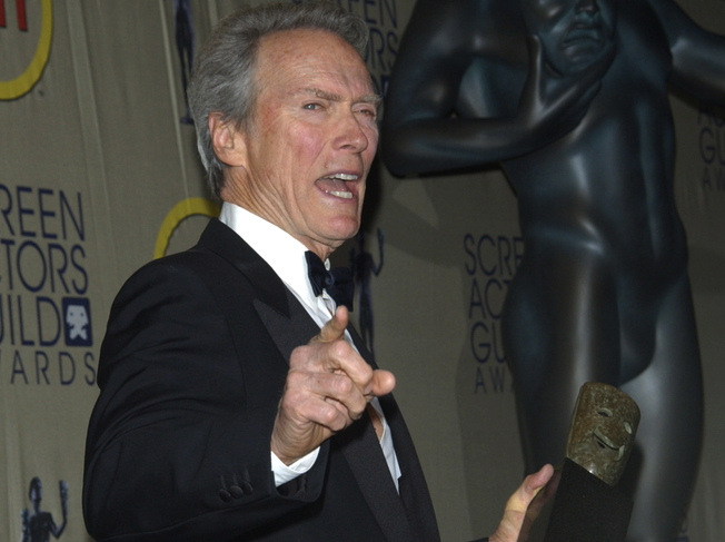 Clint Eastwood na gali Screen Actors Guild Awards w in Los Angeles - marzec 2003