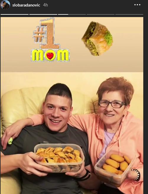 Sloba Radanović i majka Draginja