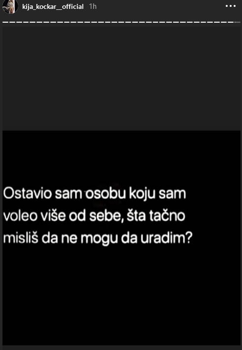 Kija o razvodu od Slobodana?