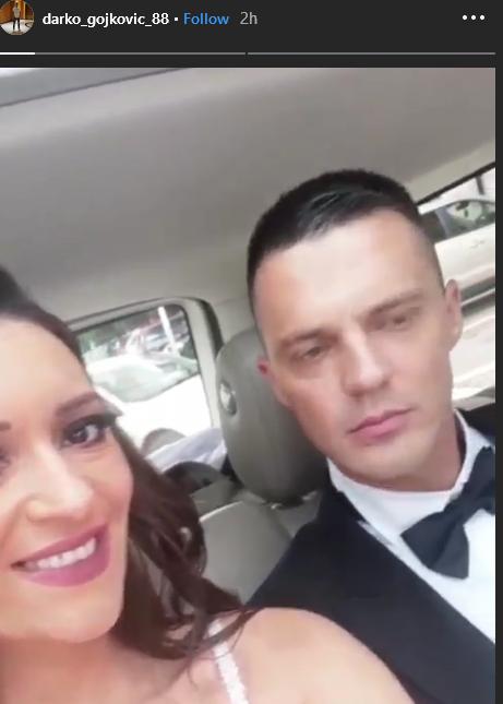 Dajana Penezić i Darko Gojković u limuzini