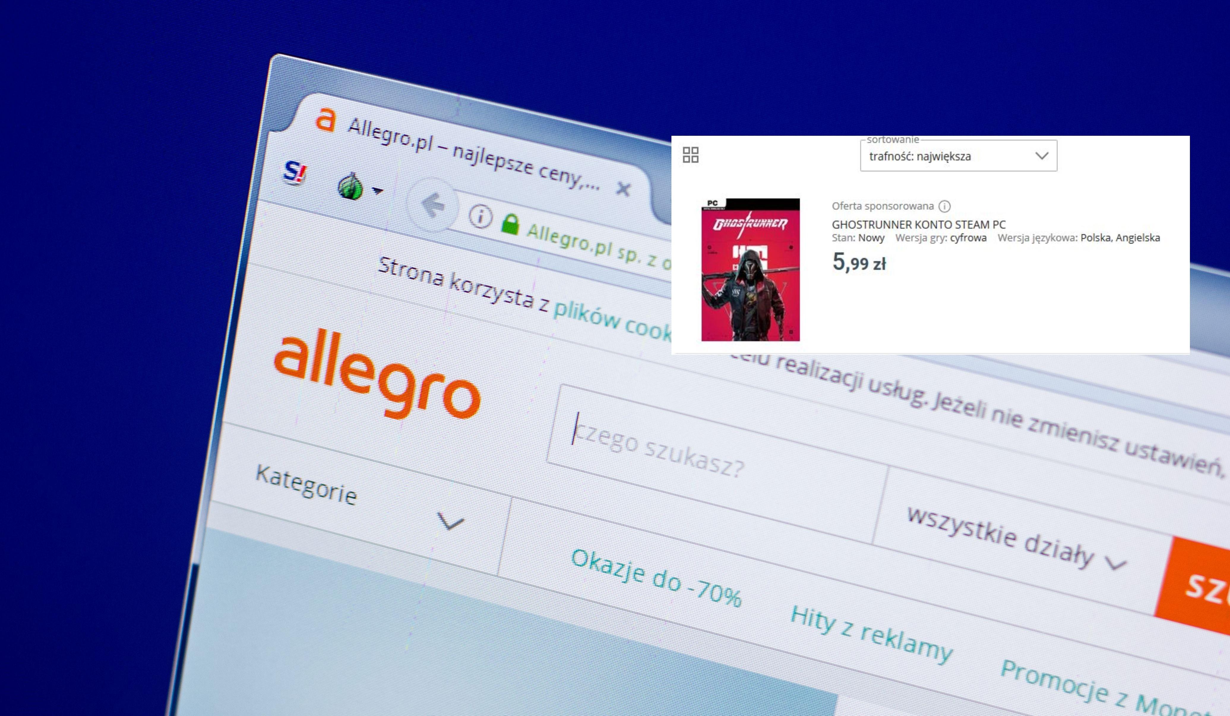 Zmiany Na Allegro Koniec Ze Sprzedawaniem Kont Z Grami Na Pc I Konsole