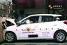 Hyundai i20 przy prędkości 55 km/h