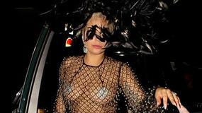 Bezwstydna Lady Gaga w prześwitującym kostiumie na ulicach Londynu