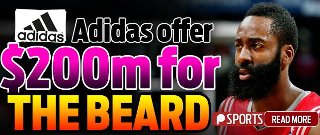 f322f05c75af Huge deal Adidas makes  200M bid to sign Rockets star James Harden - Pulse  Ghana
