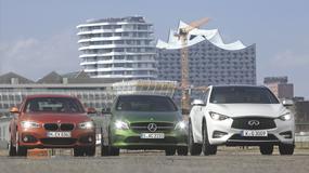 Trzy niezwykłe kompakty: BMW 120d, Infiniti Q30 2.2d i Mercedes A220d