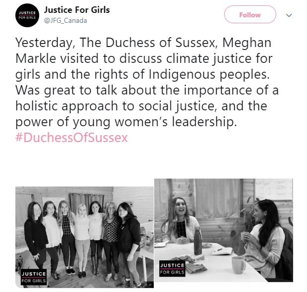 Centar se na Tviteru pohvalio posetom Megan Markl