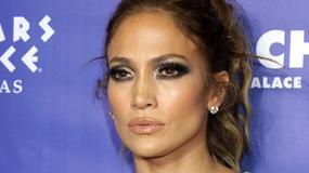 Seksowna Jennifer Lopez w białej sukience na imprezie w Las Vegas