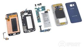 Samsung Galaxy S6 Edge rozebrany na części