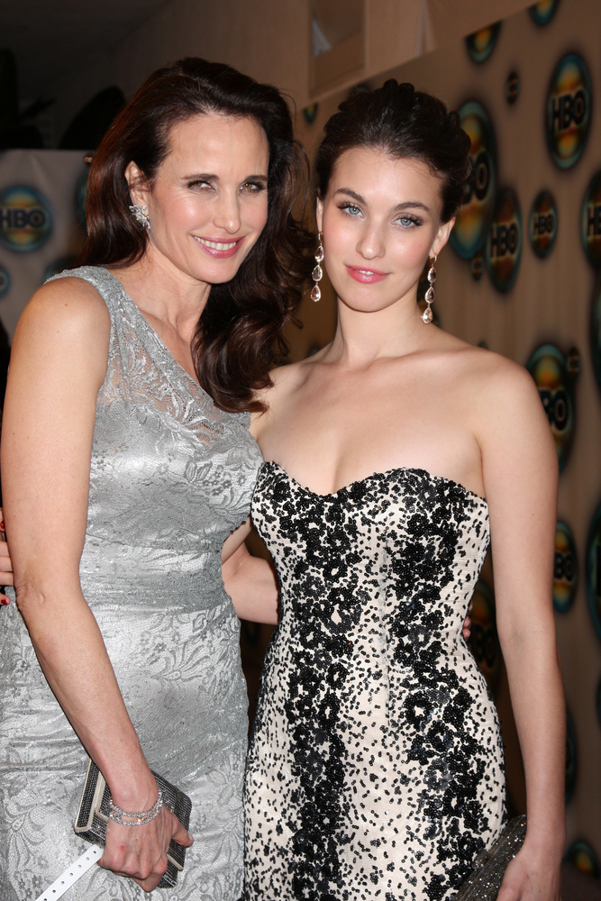 Andie MacDowell i Rainey Qualley