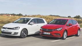 Opel Astra kontra Volkswagen Golf - kto zbudował lepszy kompakt?