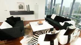 Motyw zebry w salonie