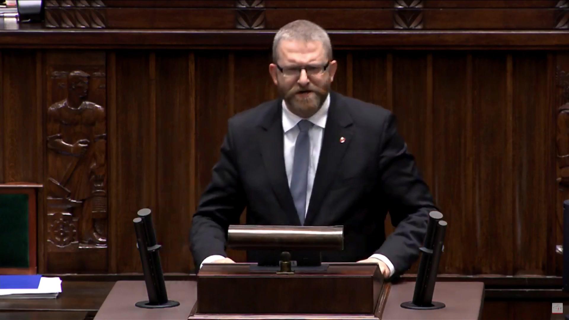 Debata Po Expose Premiera Wystąpienie Grzegorza Bruna Z