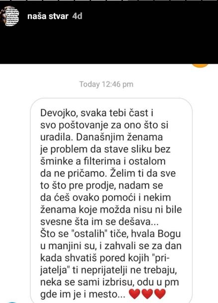 Reakcije na post Ane Ćubele
