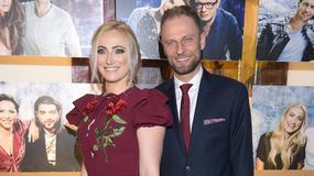 Piotr Gacek z piękną żoną na gali Srebrnych Jabłek