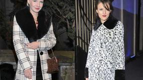 Która lepiej wygląda w takim płaszczu?