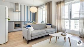 Intensywnie niebieskie mieszkanie w Trójmieście. Właściciele mieli je wynająć, ale się rozmyślili...