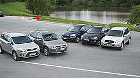 Ford Kuga kontra Honda CR-V, Kia Sportage, Toyota RAV4 i VW Tiguan - SUV-y z ograniczonym apetytem