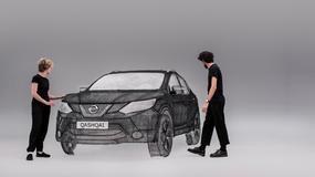 Nissan Qashqai - największa rzeźba 3D