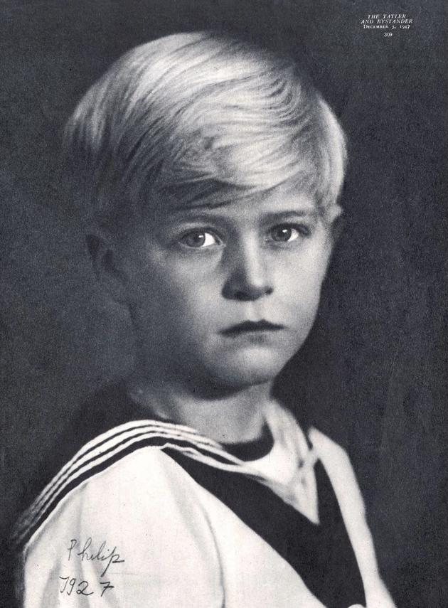 Princ Filip kao dečak 1927 godine