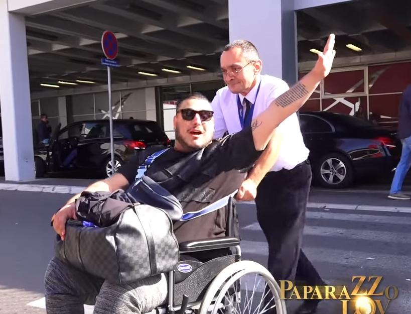 Darko Lazić u invalidskim kolicima