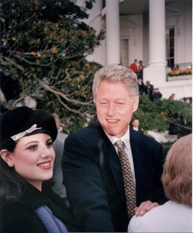 Monika Levinski i Bil Klinton sredinom 90-ih